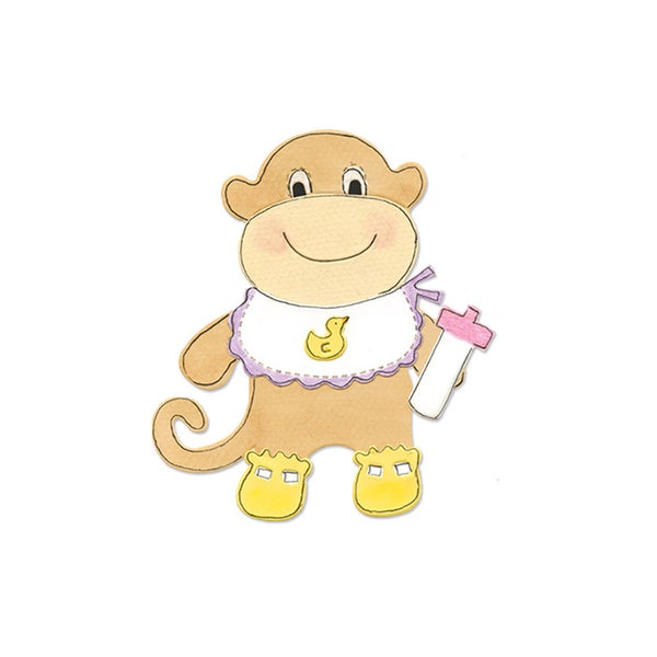 Sizzix Monkey Animal Dress Ups Bigz Die