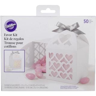 Favor Box Kit Makes 50-White Lace Paper Lantern