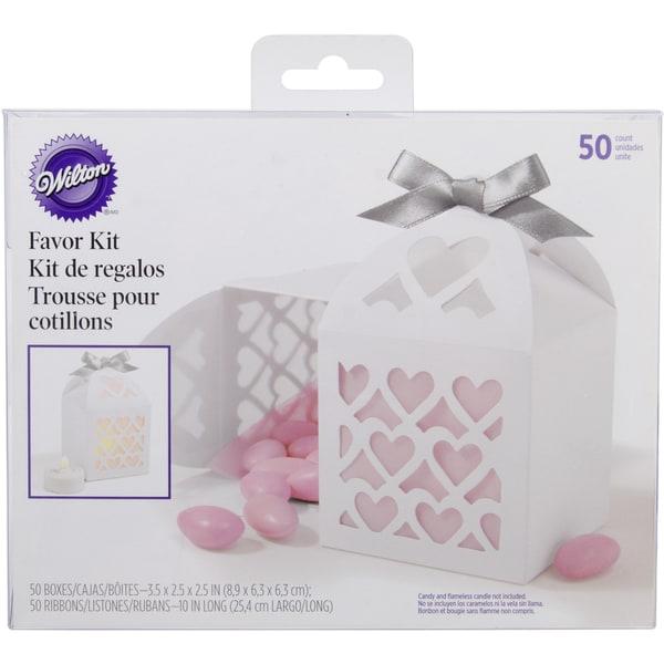 Favor Box Kit Makes 50-White Lace Paper Lantern 11106742