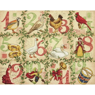 12 Days Of Christmas Counted Cross Stitch Kit