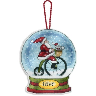Love Snowglobe Counted Cross Stitch Kit