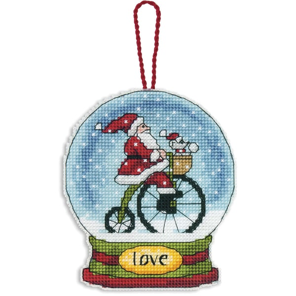 Love Snowglobe Counted Cross Stitch Kit 11106758
