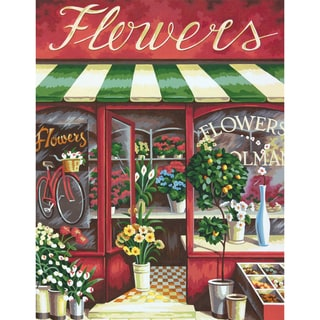 "Paint By Number Kit 11""X14""-Flower Shoppe"