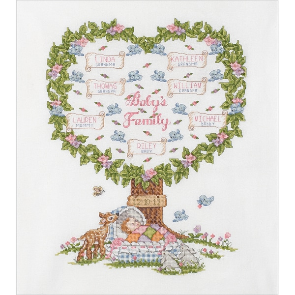 Baby's Family Tree Counted Cross Stitch Kit