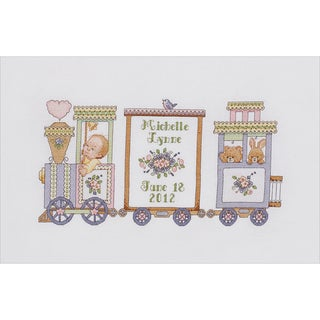 Choo Choo Train Birth Record Counted Cross Stitch Kit