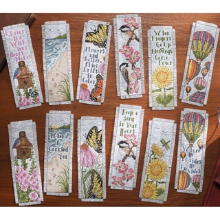 Inspired By Nature Bookmarks Counted Cross Stitch Kit