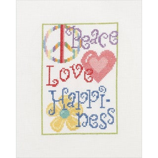 My Quick Stitch Peace Love Mini Counted Cross Stitch Kit