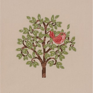 Red Bird On Tree Counted Cross Stitch Kit