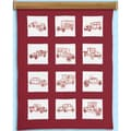 "Themed Stamped White Cotton Quilt Blocks 9"" X 9"" 12/Pkg"