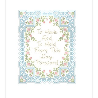 To Have And To Hold Stamped Cross Stitch Kit