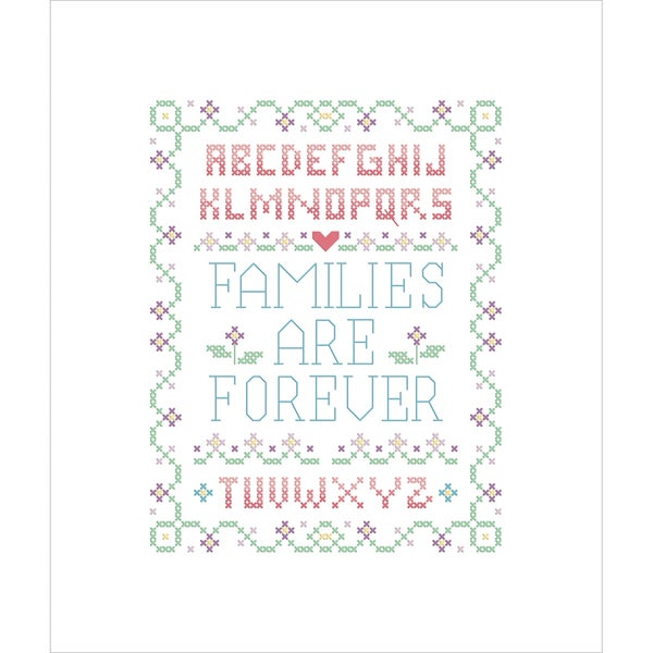 Families Are Forever Stamped Cross Stitch Kit