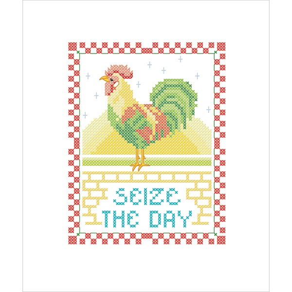 Seize The Day Stamped Cross Stitch Kit