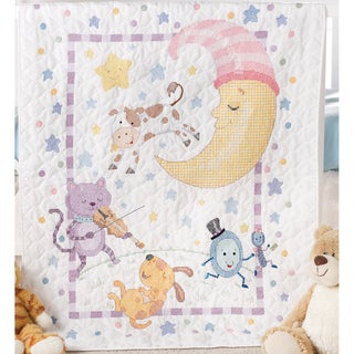 Hey Diddle Diddle Crib Cover Stamped Cross Stitch Kit