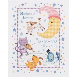 Hey Diddle Diddle Birth Record Counted Cross Stitch Kit