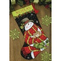 Snowman & Bear Stocking Needlepoint Kit