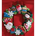 Christmas Toys Wreath Felt Applique Kit