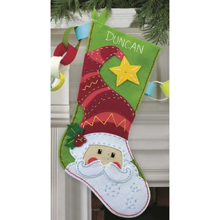 Santa Stocking Felt Applique Kit