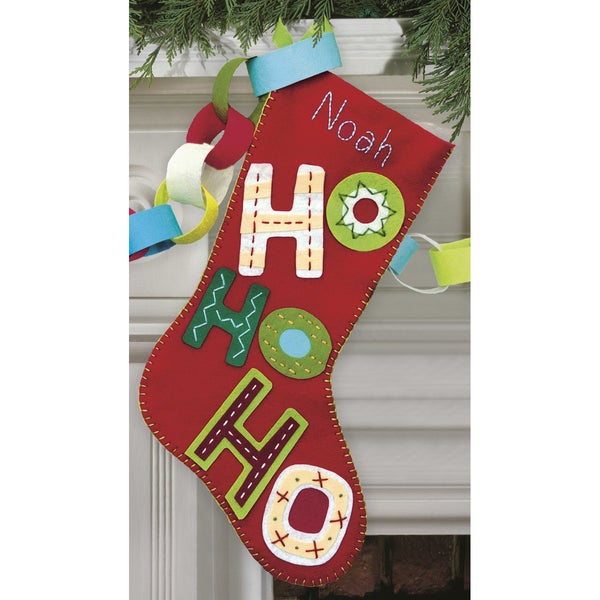 Ho Ho Ho Stocking Felt Applique Kit