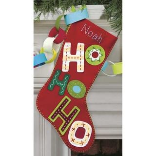 Ho Ho Ho Stocking Felt Applique Kit