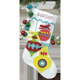 Bright Ornaments Stocking Felt Applique Kit
