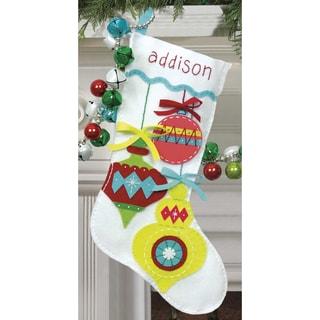 Bright Ornaments Stocking Felt Applique Kit