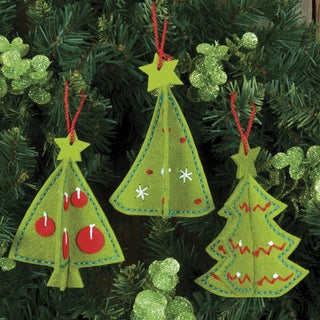 3-D Ornaments Felt Applique Kit