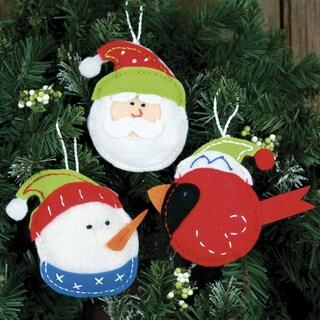 Holiday Trio Ornaments Felt Applique Kit