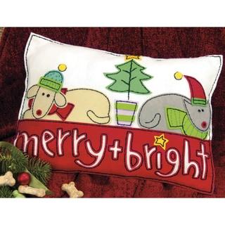 Merry & Bright Pillow Felt Applique Kit
