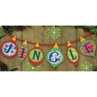 Jingle Banner Felt Applique Kit