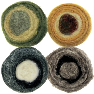 Feltworks Earth Tone Roving Rolls