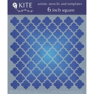 Judikins 6 Inch Square Kite Stencil-Moraccan Lattice