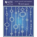 Judikins 6 Inch Square Kite Stencil-Bead Curtain