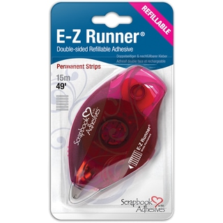 EZ Runner Refillable Dispenser W/Permanent Adhesive 49ft-Permanent