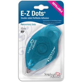 EZ Dots Refillable Dispenser W/Permanent Adhesive 49ft-Permanent