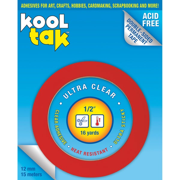 Kool Tak .25in x 16yds Ultra Clear Tape