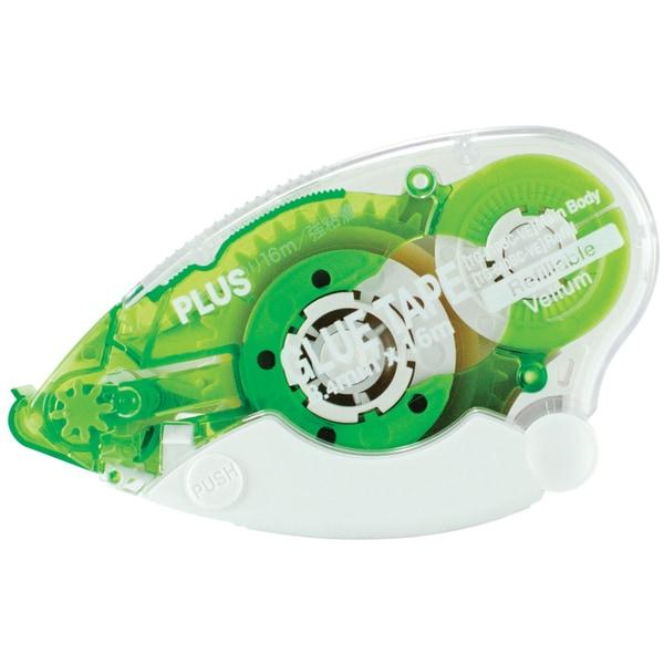 Plus Glue Tape Dispenser .33in X 52.5ft-Vellum, Permanent