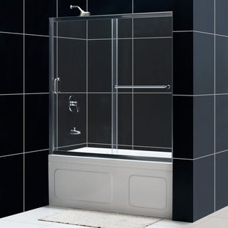 DreamLine Infinity-Z 56-Inch to 60-Inch Frameless Glass Sliding Tub Door