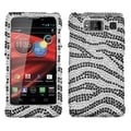 BasAcc Zebra Skin Diamond Case for Motorola XT926M Droid Razr Maxx HD