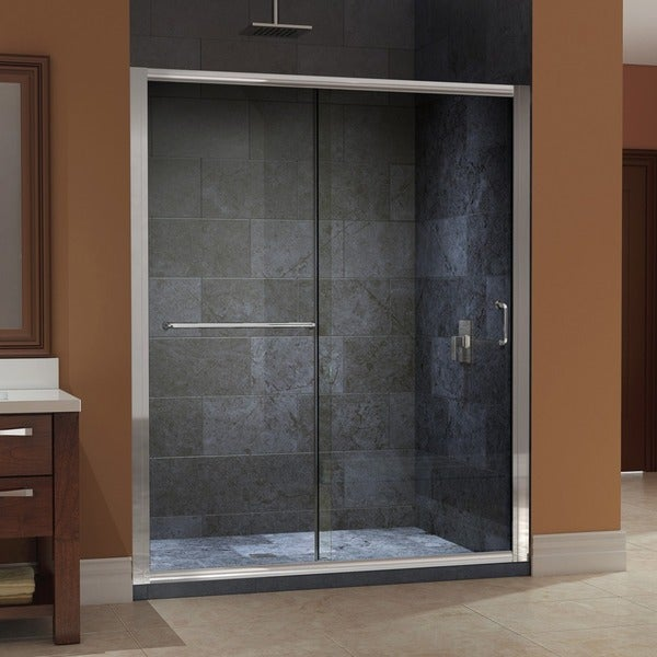 Infinity Z 56 To 60 Inch Frameless Glass Sliding Shower Door