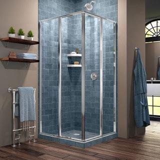 DreamLine Cornerview 34.5 x 34.5-inch Framed Sliding Shower Enclosure