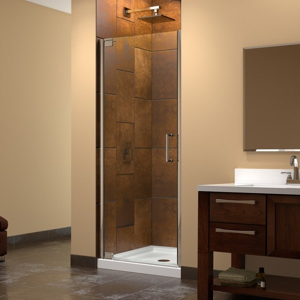dreamline elegance to frameless pivot shower door 15357734. Black Bedroom Furniture Sets. Home Design Ideas