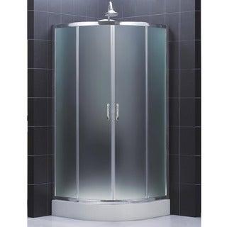 DreamLine Prime 36.375 x 36.375 Frameless Sliding Shower Enclosure