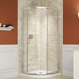 DreamLine Solo 31-3/8 x 31-3/8 Frameless Clear Sliding Shower Enclosure