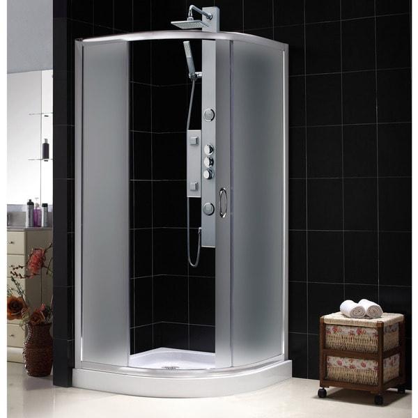 DreamLine Solo 31-3/8 x 31-3/8 Frameless Sliding Shower Enclosure