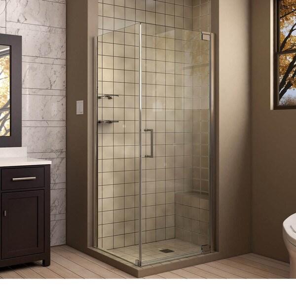 DreamLine Elegance 34 x 30-inch Frameless Pivot Shower Enclosure 11107180