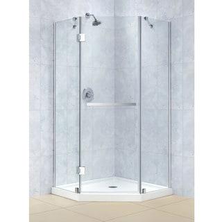 DreamLine Prism-X 34-3/8 x 34-3/8 Frameless Hinged Shower Enclosure