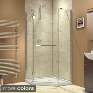 DreamLine Prism-X 36-3/8 x 36-3/8 Frameless Hinged Shower Enclosure
