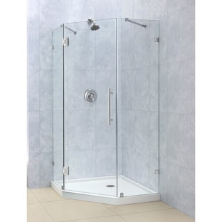 DreamLine PrismLux 40-3/8 x 40-3/8 Frameless Hinged Shower Enclosure