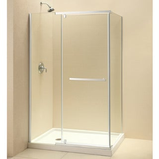 DreamLine Quatra 32-5/16 x 46-5/16 Frameless Pivot Shower Enclosure