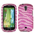 BasAcc Pink Zebra Diamante Case for Samsung Galaxy Stratosphere II